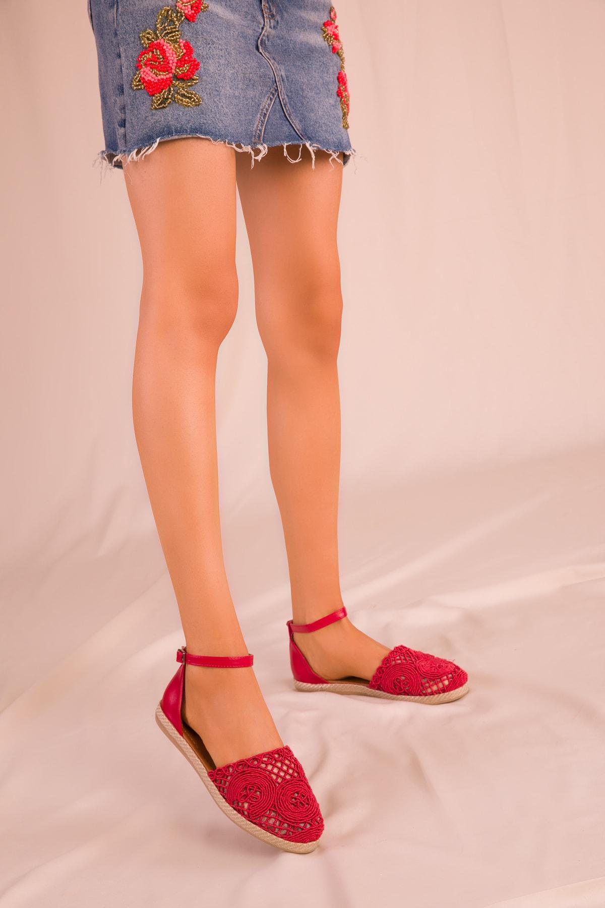 SOHO Kırmızı Kadın Sandalet 15046 2