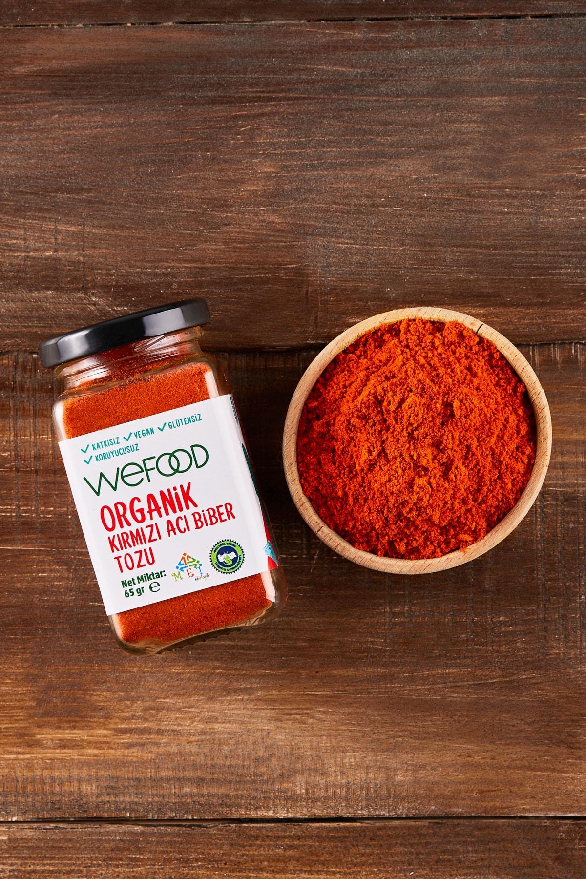 Wefood Organik Kırmızı Acı Biber Tozu 65 gr 2
