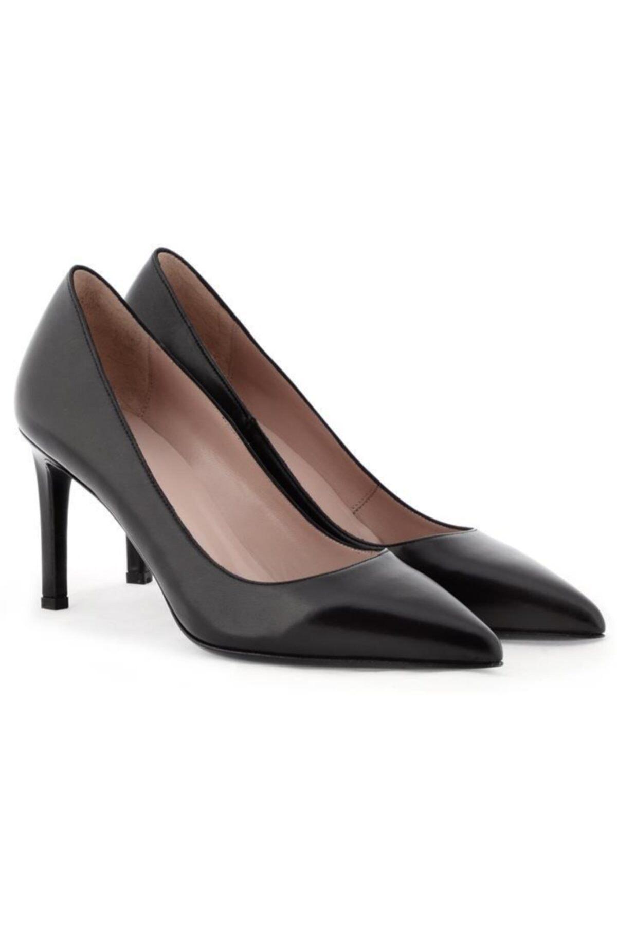 Nursace Hakiki Deri Klasik Topuklu Ayakkabı Nsc18y-a57101 1