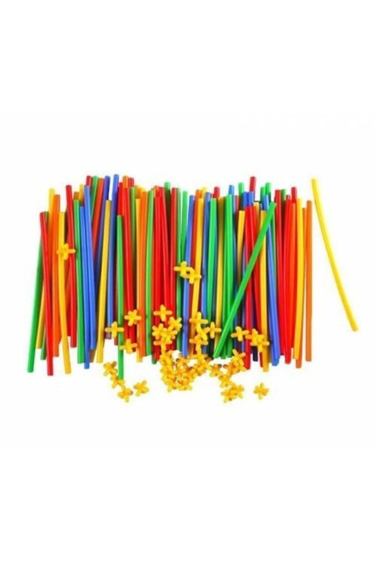 Zekice Oyuncak Zk-e06 Bambu Çubukları Eğitici Birleştirme Aparatlı 300 Parça 2