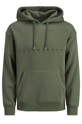 Jack & Jones Erkek Pastel Yeşil Sweatshirt 12189235