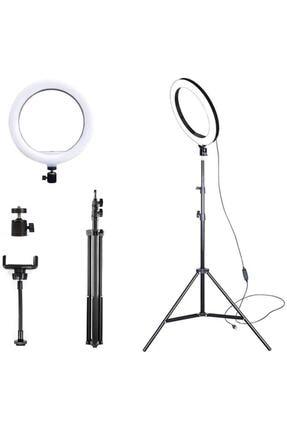 PoyrazGlobal 10 Inch Youtuber Selfi Işığı Tripotlu(2m)yotuber Video Selfi Stüdyo Makyaj Işığı Selfi Işığı