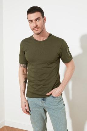 TRENDYOL MAN Haki Erkek  Slim Fit T-Shirt TMNSS20TS0968