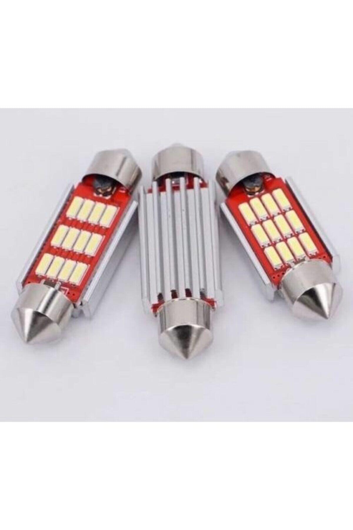 Universal Sofit Led Ampül Siemens Tipi 12 Ledli Beyaz Sofit Tavan Ve Plaka Ampülü 39 Mm Canbus Aleminyum Kasa 1