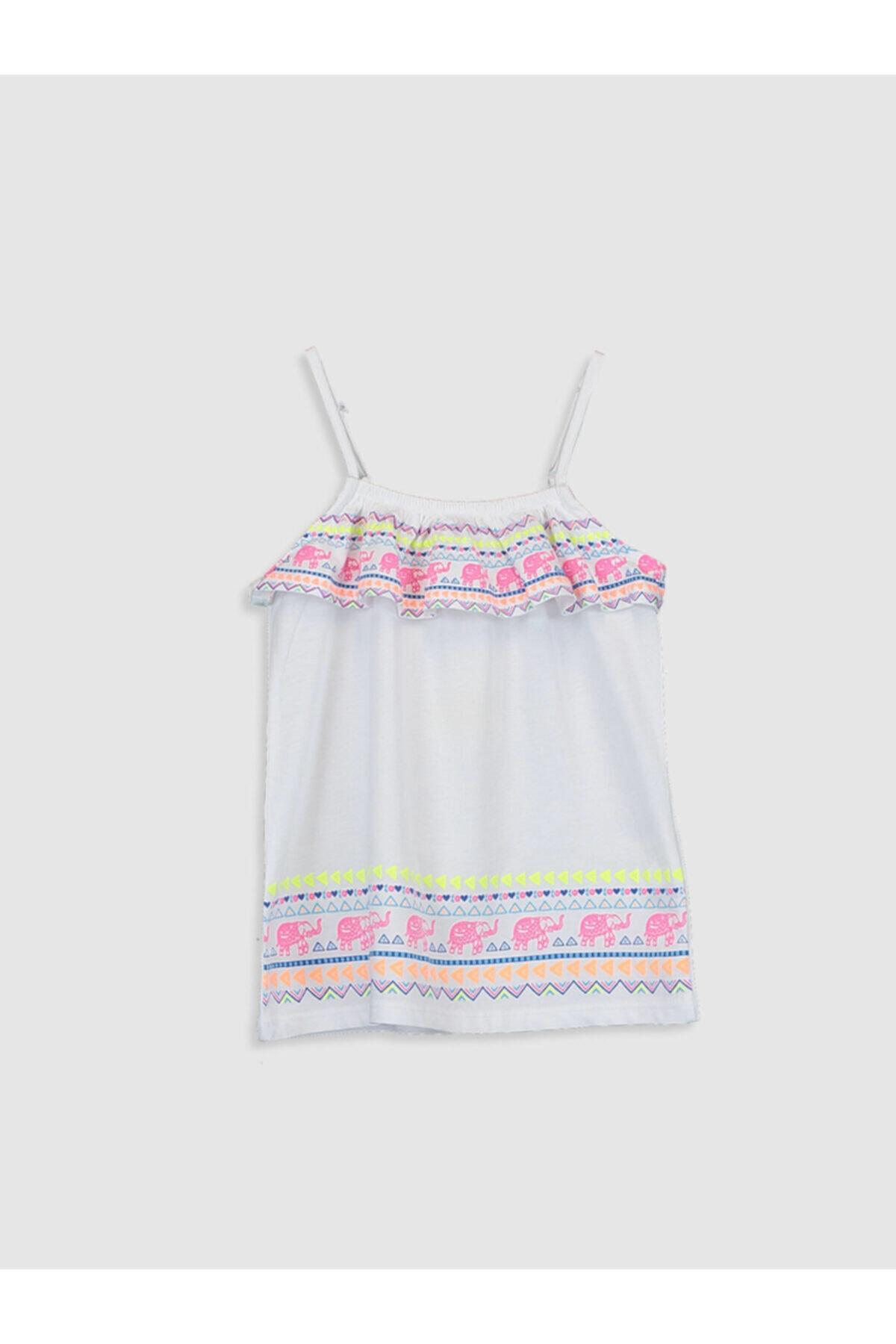 LC Waikiki Kız Çocuk Beyaz Bluz 1