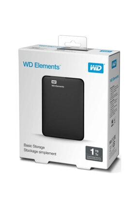 "WESTERN DIGITAL Wd Elements 1tb 2,5"" Usb3,0 (wdbuzg0010bbk), Harici Hdd, Siyah"