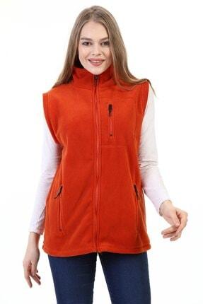 GENIUS Store Kadın Polar Yelek Tam Fermuarlı Outdoor Spor Yelek 3cepli