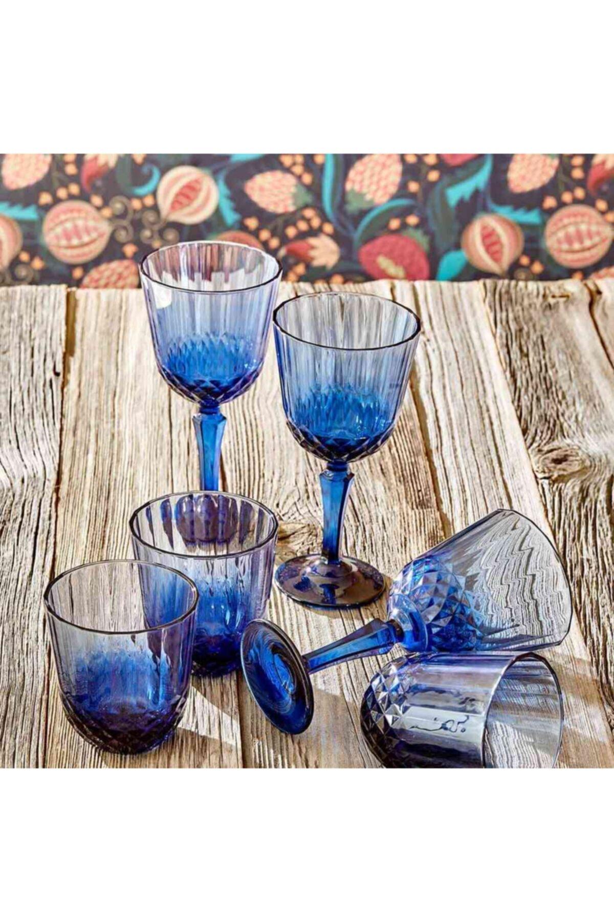 Bella Maison Colore Kesme Kadeh Mavi (310 Cc) 2