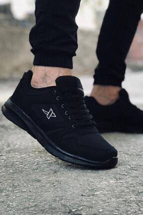 XStep Erkek Siyah Spor Fıtness Koşu Günlük Ayakkabı
