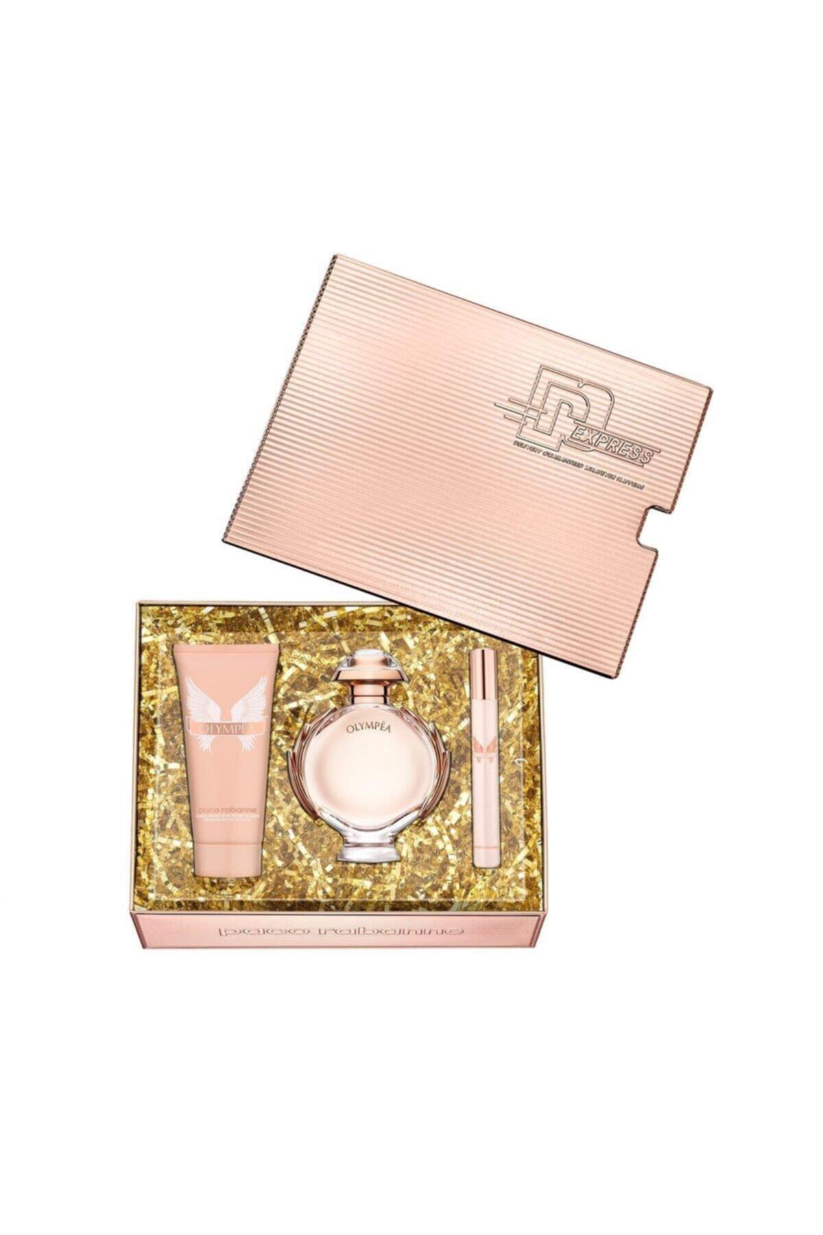 Paco  Rabanne Olympea Edp 80 + Edp 10 + Body Lotion 100 ml Kadın Parfüm Seti 3349668572885 1