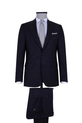 Hatemoğlu Siyah Slim Fit Yün Takım Elbise