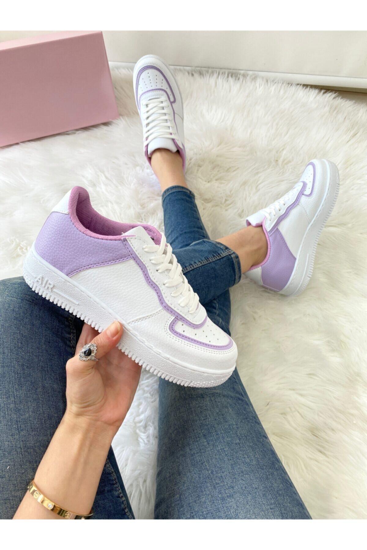 ELSESHOES Kadın Lıla Beyaz Sneaker 1