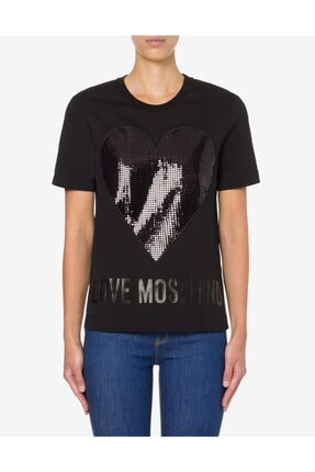 Love Moschino Kadın Siyah Moschino Tişört   w 4 F15 2q