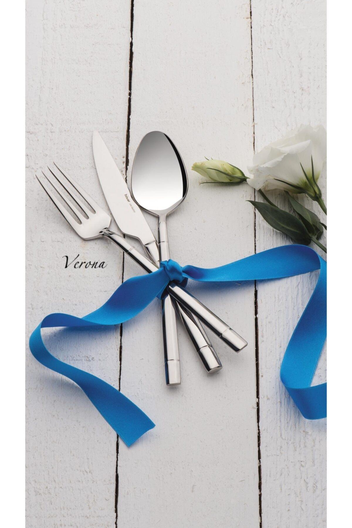Hisar Verona 24 Parça Çelik Yemek Çatal Kaşık Bıçak Seti 2
