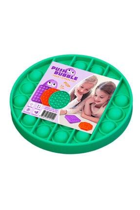 Başel Toys Push Bubble Fidget Özel Pop Duyusal Oyuncak Zihinsel Stres ( Yeşil Renk, Yuvarlak)