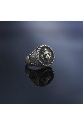 ATOLYESTONE Erkek Aslan Yüzük - Gümüş 1232