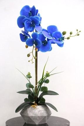 Yapay Çiçek Deposu Dekoratif Nismo Yapay Orkide 2'li 65 cm