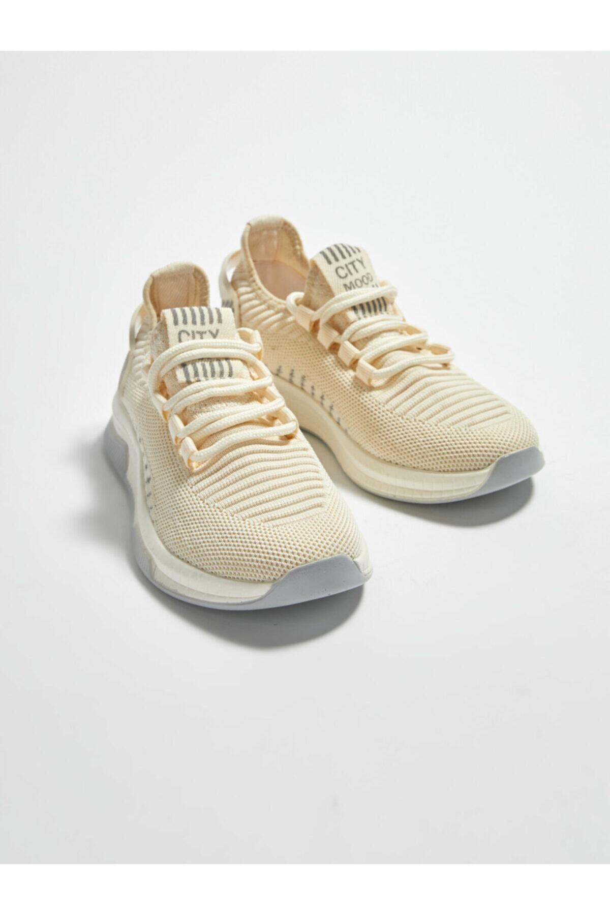 LC Waikiki Kadın Kırık Beyaz Aktif Spor Ayakkabı 2