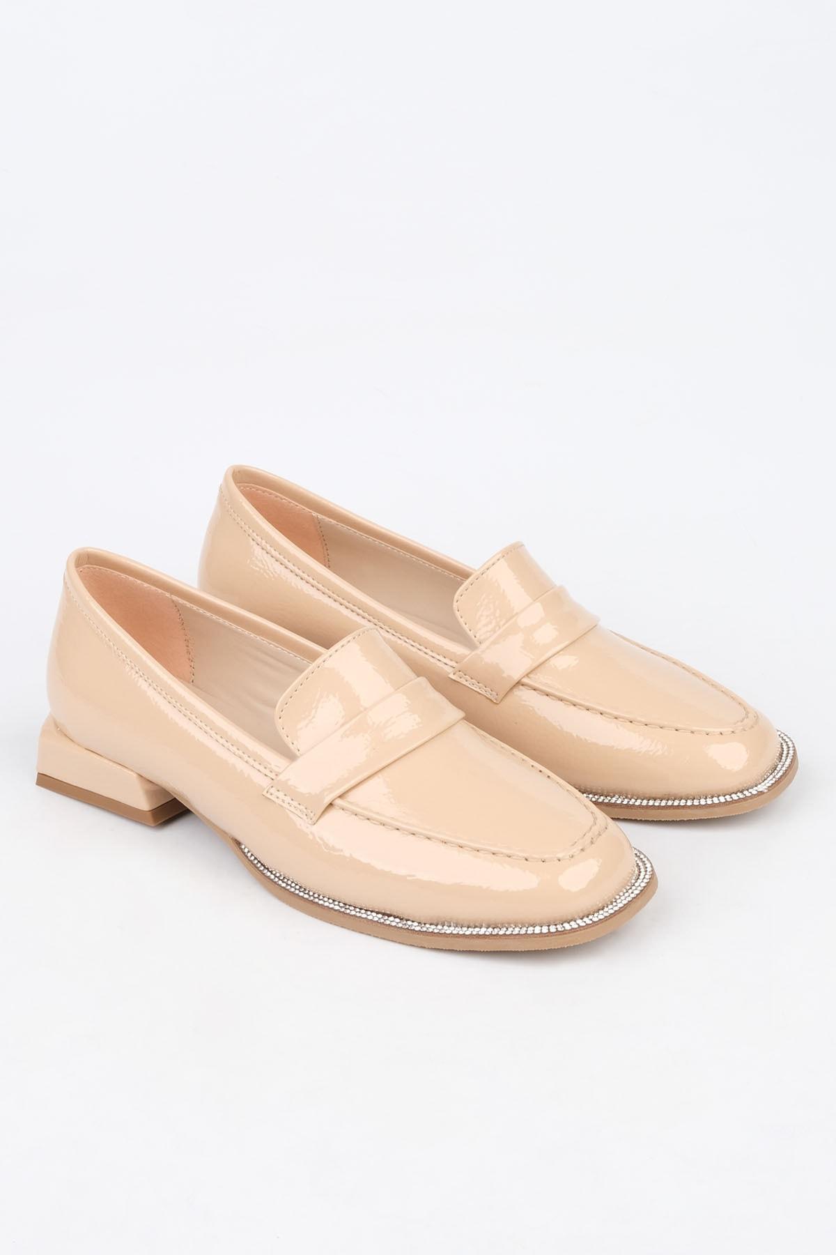 Marjin Kadın Bej Rugan Loafer Ayakkabı Bunlez