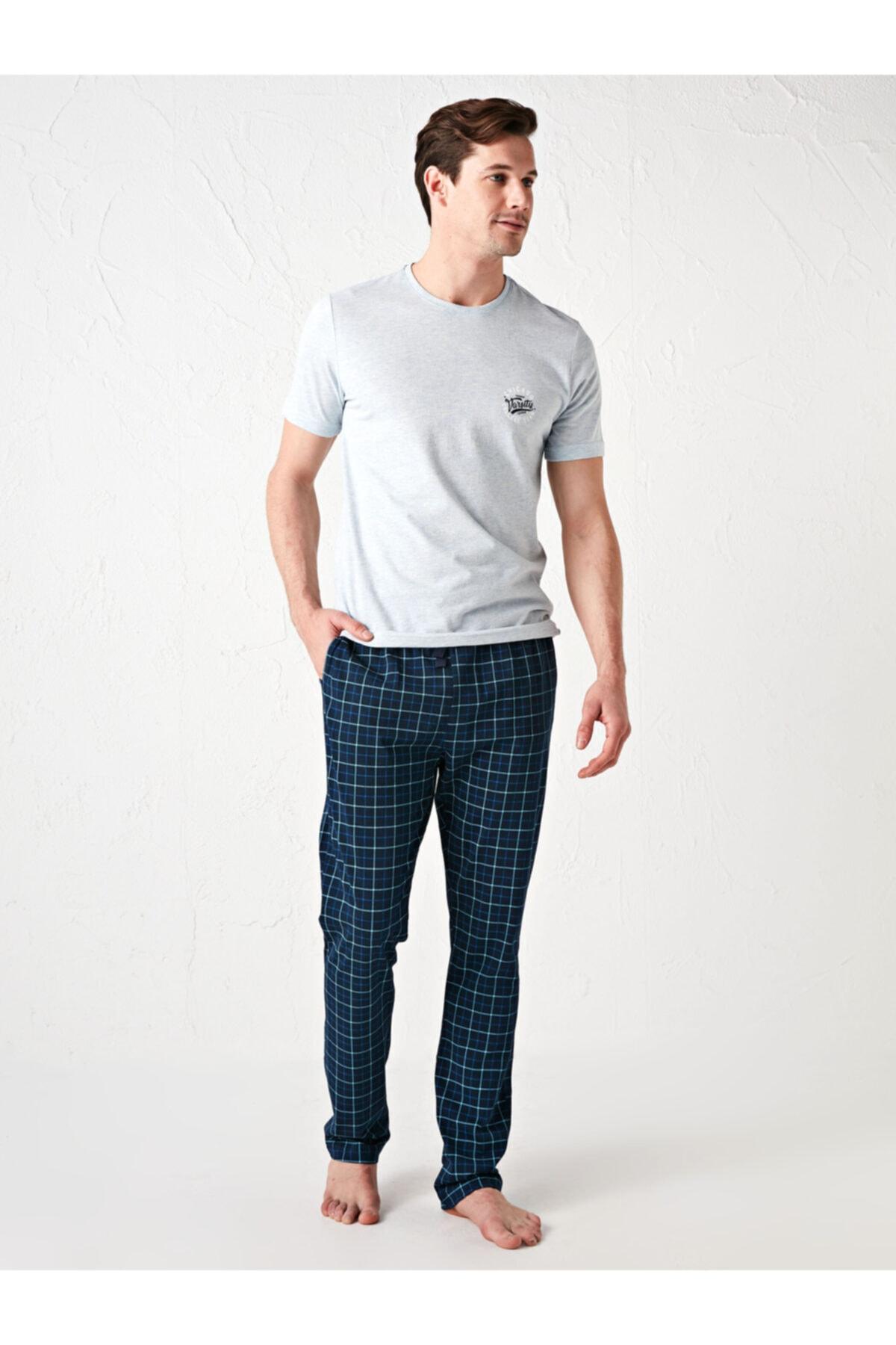 LC Waikiki Erkek Lacivert Pijama Takımı 1