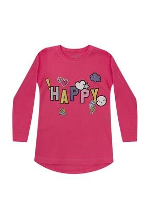 Pattaya Kids Kız Çocuk Pembe Baskılı Selanik Sweatshirt  P-pm06364