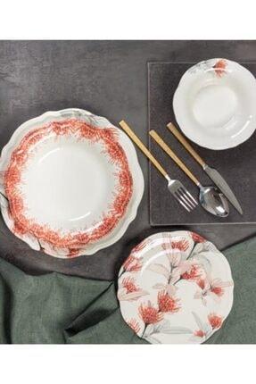 ACAR Lavinya 24 Parça Porselen Yemek Takımı