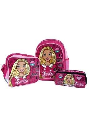 Hakan Çanta Barbie Iki Bölmeli Ilkokul Çantası Seti 3lü Orjinal Lisanslı