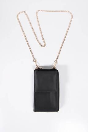 Addax Kadın Siyah Telefon Bölmeli Cüzdan Çantası Czdn74 - F6 Adx-0000022976
