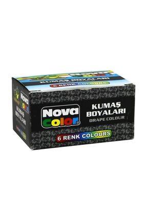 Nova Color Kumaş Boyası 6 Renk x 30 ml. Set