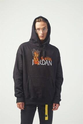 Trendiz Jordan Oversıze Sweatshirt Siyah Tr30014