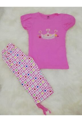 Wonder Kıds Kız Çocuk Bermuda Karpuz Kol Pijama Takımı 130619