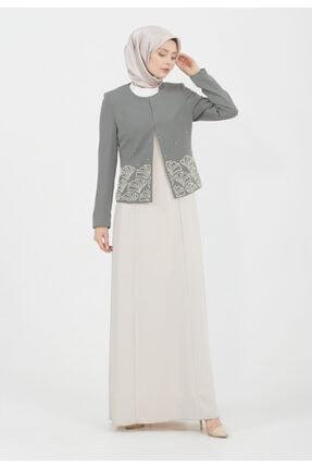 Setrms Ceket Işlemeli Elbiseli Takım