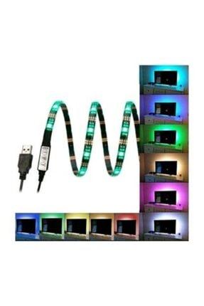 Triline Tv Arkası Silikonlu 1 Metre Uzaktan Kumandalı Rgb Led Şerit Aydınlatma Seti