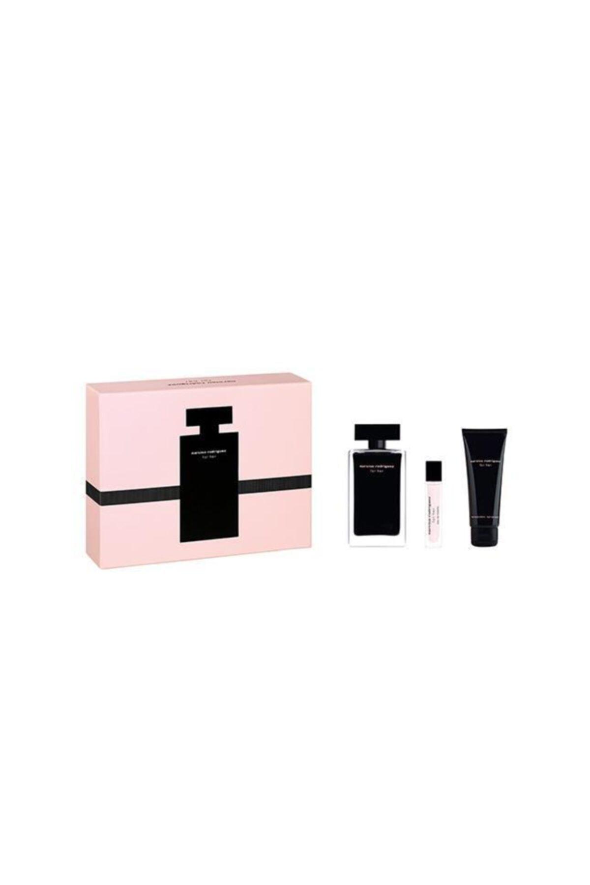 Narciso Rodriguez Edt 100 ml + Body Lotion 75 + Edt 10 Kadın Parfüm Seti 3423478464056 2
