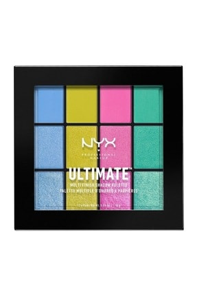 NYX Professional Makeup Göz Farı Paleti - Ultımate Multı Finish Shadow Palette Electric 800897096465