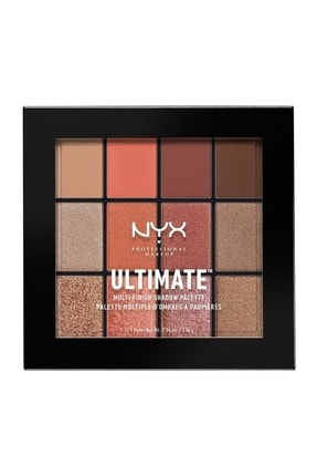 NYX Professional Makeup Göz Farı Paleti - Ultımate Multı Finish Shadow Palette Warm Rust 800897105617