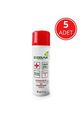 Bebak Dezenfektan El Temizleme Spreyi 60 Ml - 5 Adet