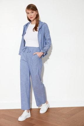 TRENDYOLMİLLA Indigo Bağlamalı  Pantolon TWOSS21PL0217