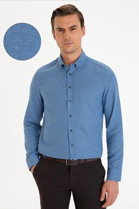Pierre Cardin Erkek Lacivert Slim Fit Gömlek G021GL004.000.1214497