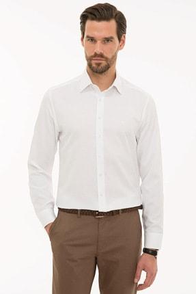 Pierre Cardin Erkek Beyaz Slim Fit Oxford Gömlek G021GL004.000.1214456