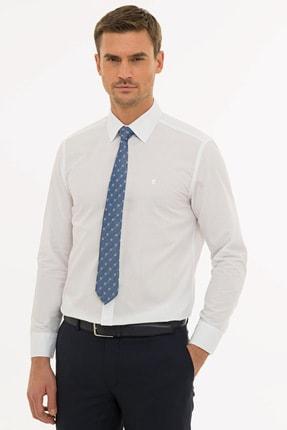 Pierre Cardin Erkek Beyaz Regular Fit Basic Gömlek G021GL004.000.1214477