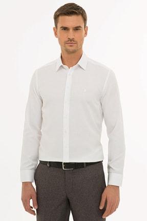 Pierre Cardin Erkek Beyaz Slim Fit Oxford Gömlek G021GL004.000.1214553