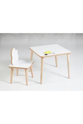 Asrimo mobilya Çocuk Aktivite Masa Sandalye Takımı - Yaz Sil Yüzeyli
