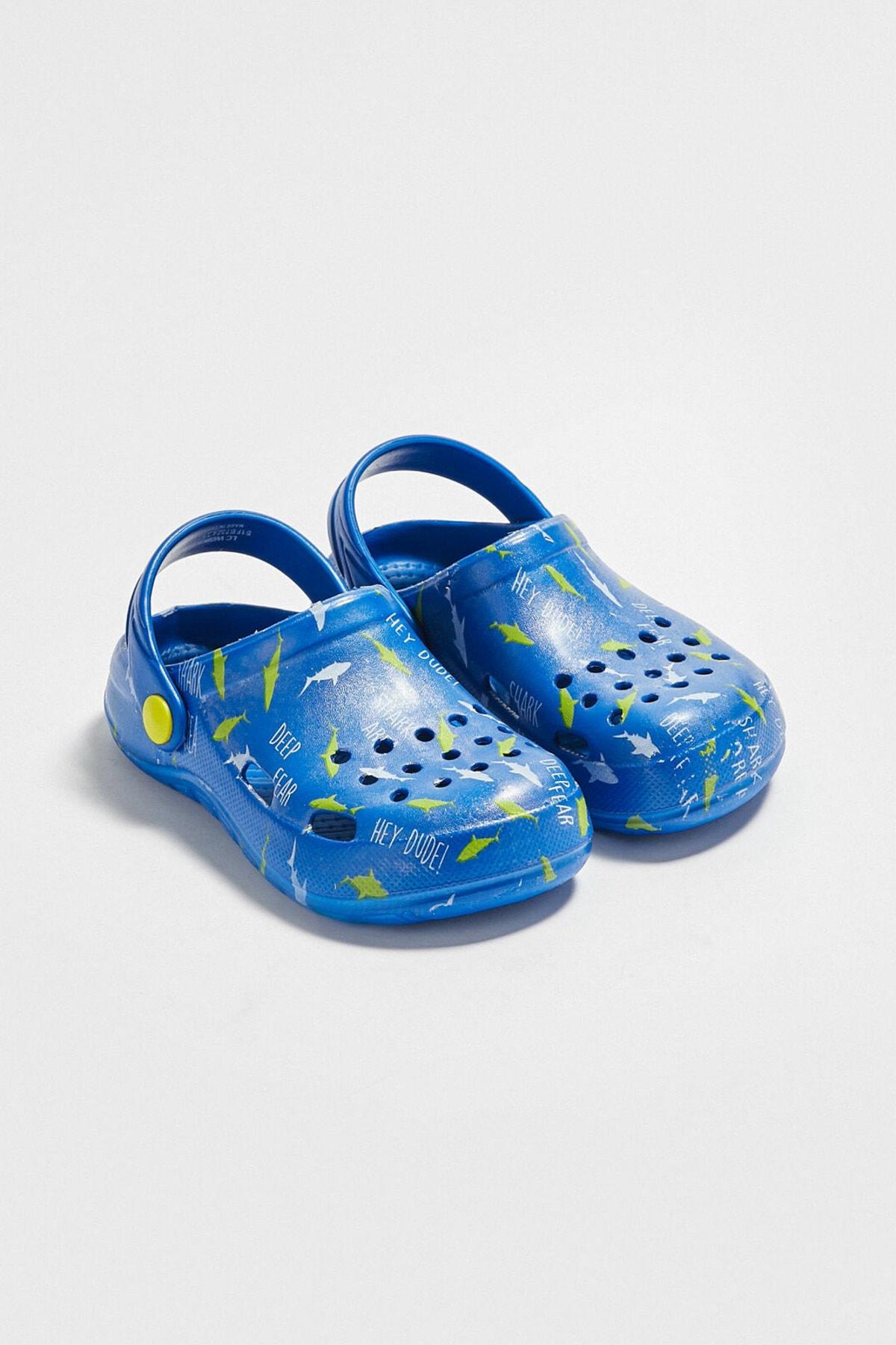 LC Waikiki Erkek Çocuk Saks Mavi Crw Sandalet 1