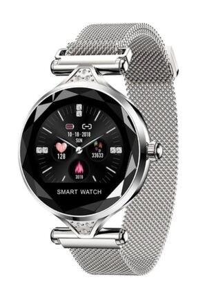 Kingshark H1 Smart Watch H1 Bayan Akıllı Saat Nabız Ölçer Uyku Ve Spor Faaliyetleri Gold Renk