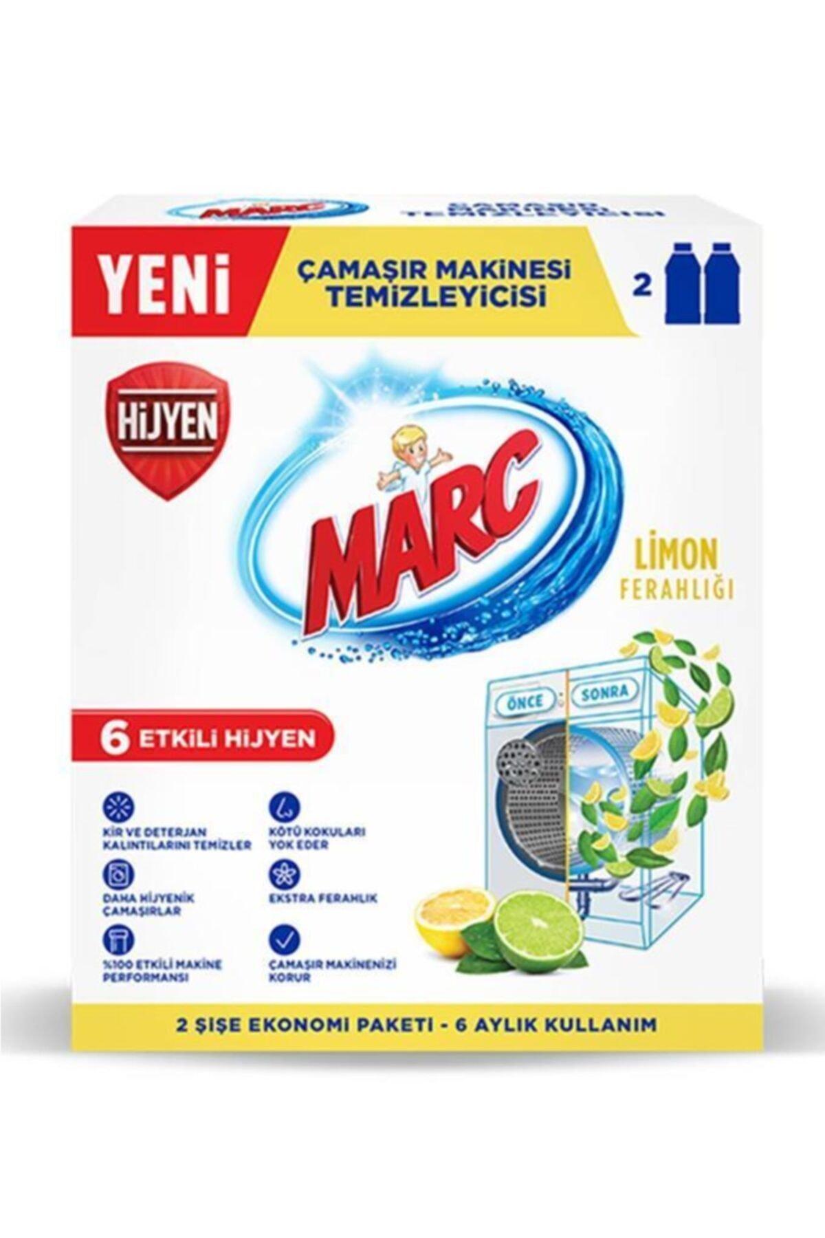 Marc Çamaşır Makinesi Temizleyici Limon Ferahlığı 2x250 Ml 2