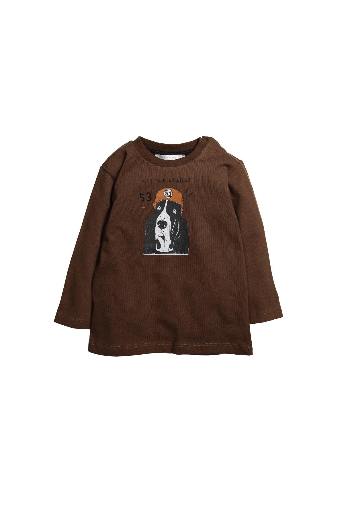 Zeyland Yaka Çıtçıtlı Baskılı Uzun Kollu T-shirt (9ay-4yaş) 1