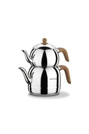 KORKMAZ Retro Ahşap Çaydanlık Takımı