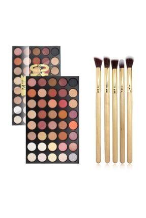 Makeuptime 40'lı Renkli Göz Farı Palet+far Fırça Seti
