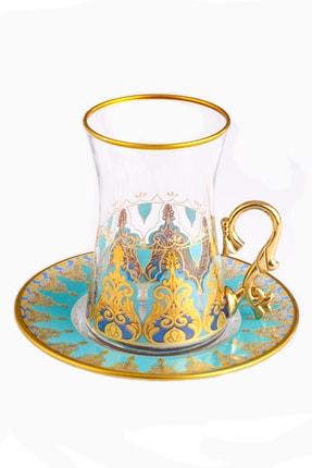 Paşabahçe Hümeyra Altın Yaldız 6 Kişilik Çay Seti